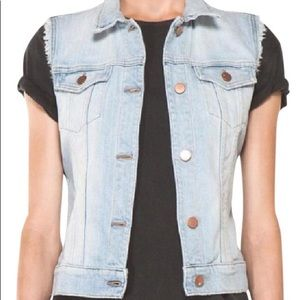 J BRAND- Faith- destructed light denim Vest